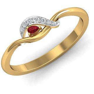 Gili 14K Yellow Gold Diamond Ring For Women