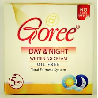 GOREE DAY  NIGHT CREAM WITH GOREE WHITENING SOAP.