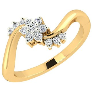 Nakshatra 14K Yellow Gold Diamond Ring For Women