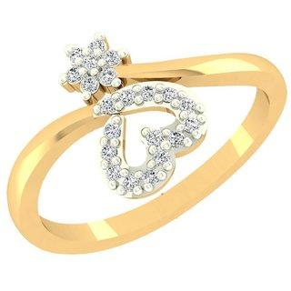Nakshatra 14K Yellow Gold Diamond Ring For Women