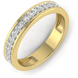 Glitterati By Asmi 14K Yellow Gold Diamond Ring For Women