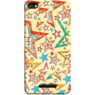 FUSON Designer Back Case Cover for Micromax CanvasHue2A316 (Vector Abstract Background Of Colorful 3D Stars)