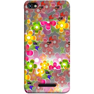 FUSON Designer Back Case Cover for Micromax CanvasHue2A316 (Butterflies Garden Trees Stars Bright Best Wallpaper)