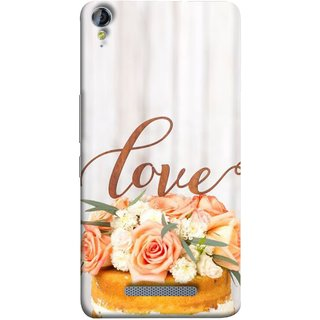 FUSON Designer Back Case Cover for Micromax Canvas Juice 3+ Q394 :: Micromax Canvas Juice 3 Plus Q394 (Cake Pink Rose Birthday & Decoration Ceremony Lily)