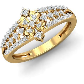 Avnni By Nakshatra 14K Yellow Gold Diamond Ring For Women