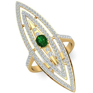 Parineeta 14K Yellow Gold Diamond Ring For Women