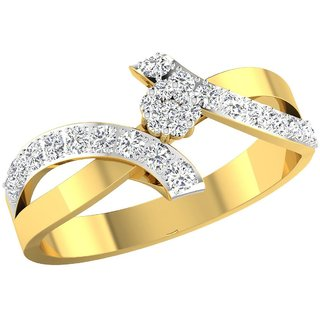 Nirvana 14K Yellow Gold Diamond Ring For Women