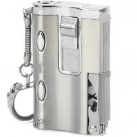 PIA INTERNATIONAL Windproof Jet Flame 5 in 1 Steel Cigarette Lighter with Torch, Keyring