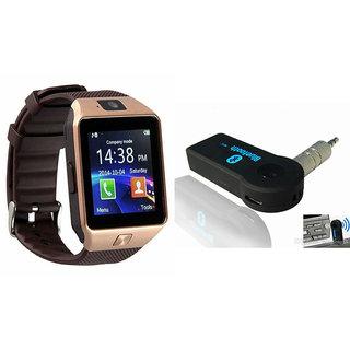 Mirza DZ09 Smart Watch and Car Bluetooth for SONY xperia z5 comapct(DZ09 Smart Watch With 4G Sim Card, Memory Card| Car Bluetooth)