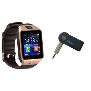 Mirza DZ09 Smart Watch and Car Bluetooth for SONY xperia z1 compact(DZ09 Smart Watch With 4G Sim Card, Memory Card  Car Bluetooth)