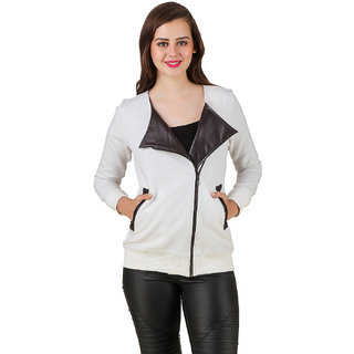 Texco Women's White Poly Cotton Full Sleeves Casual Jackets