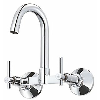 EDDY 1513 sink mixer with regular swinging spout (wall mounted)