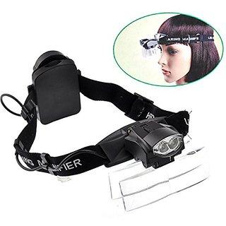Headband Illuminated Magnifier WITH  LED  5 LENSES -PIA INTERNATIONAL