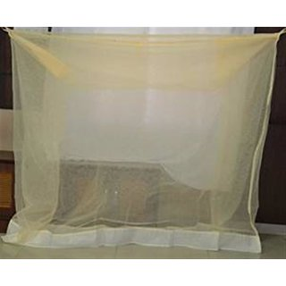 Ans Mosquito net 7x7 ft XL size for double bed Ivory
