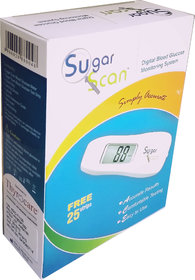 Thyrocare Sugar Scan Glucometer Blood Sugar Monitoring Kit with 25 tests + 25 lancets