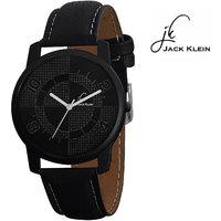 Jack Klein Black Dial Black Strap Analog Watch For Men