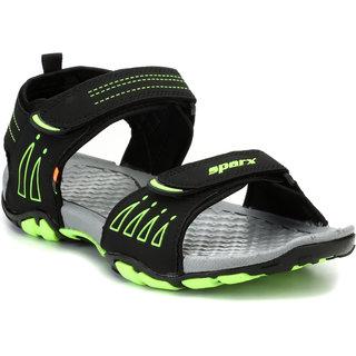 d706b53f6 Sparx Men Black   Green Floater Sandals (SS-805) Best Deals With ...