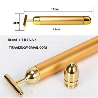 TRIAAK ENERGY BEAUTY 24K NANO GOLD PLATED MASSAGING BAR FOR FACIAL BEAUTY GLOW