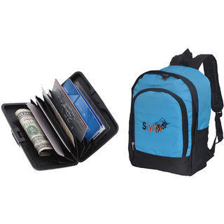 Stylox Blue Plain Bag With Credit Card Holder-Assorted
