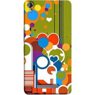 FUSON Designer Back Case Cover for Micromax Canvas Juice 3+ Q394 :: Micromax Canvas Juice 3 Plus Q394 (Multi Designs Squares Circles Hearts Mehandi)