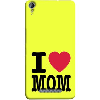 FUSON Designer Back Case Cover for Micromax Canvas Juice 3+ Q394 :: Micromax Canvas Juice 3 Plus Q394 (Yellow Background Mother Hearts Pure And True Love)