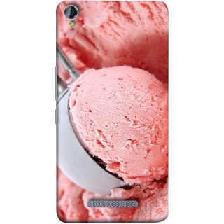 FUSON Designer Back Case Cover for Micromax Canvas Juice 3+ Q394 :: Micromax Canvas Juice 3 Plus Q394 (Best Fresh Strawberry Ice Cream Homemade Recipes)
