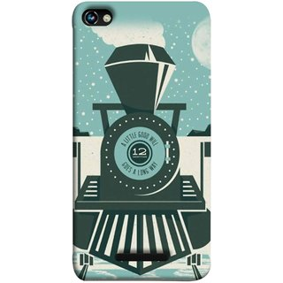 FUSON Designer Back Case Cover for Micromax CanvasHue2A316 (Train Engine Smoke Little Good Will Goes Long Way)