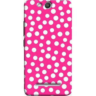 FUSON Designer Back Case Cover for Micromax Canvas Juice 3 Q392 (Small Bubbles Marbles Circle Pink Board)
