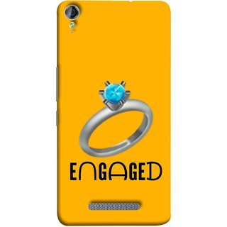 FUSON Designer Back Case Cover for Micromax Canvas Juice 3+ Q394 :: Micromax Canvas Juice 3 Plus Q394 (Couple Marriage Engegement Ring With Beautiful Diamond)