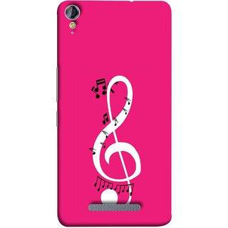 FUSON Designer Back Case Cover for Micromax Canvas Juice 3+ Q394 :: Micromax Canvas Juice 3 Plus Q394 (Colorful Music Notes Symbols Small Black Notes)