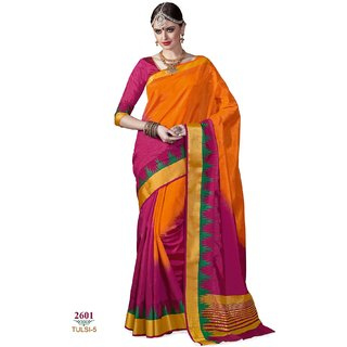 67289c0fbb2 Ashika Designer Multicolor Tussar Silk Saree for Women with Blouse Piece
