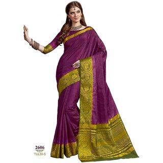 b26d24d28c1 Buy Ashika Designer Purple Tussar Silk Saree for Women with Blouse ...