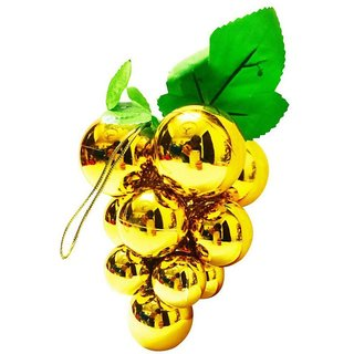 Priyankish Plastic Christmas Tree Decoration Gold-(Pack of 1)