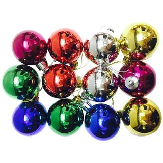 Priyankish Plastic Multicolour Christmas Tree Decoration-(Pack of 12)