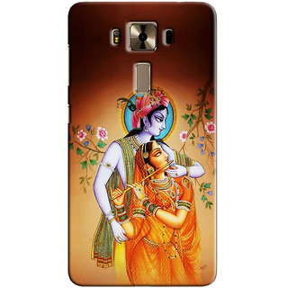 Sketchfab Radha And Krishna PREMIUM LATEST DESIGNER PRINTED COVER SERIES For Asus Zenfone 3 Deluxe Mobile Phone With PROTECTIVE SLIM LIGHT HARD MATTE FINISH BACK CASE And EMBEDDED Features