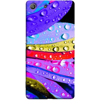 FUSON Designer Back Case Cover For Sony Xperia Z3 :: Sony Xperia Z3 Dual D6603 :: Sony Xperia Z3 D6633 (Macro Detail Of The Petals Pink Daisy Blue Red Yellow)