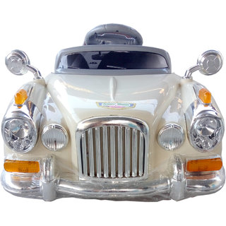 Oh Baby, Baby Battery Operated ROLLS ROYCE -1940 Car CREAM Color With Remote Control And Mobile Music SE-BOC-29
