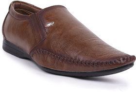 GurSmith Brown Slip On Formal Shoes For Men's GS3178A