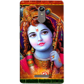 Sketchfab Krishna PREMIUM LATEST DESIGNER PRINTED COVER SERIES For Gionee S6s Mobile Phone With PROTECTIVE SLIM LIGHT HARD MATTE FINISH BACK CASE And EMBEDDED Features