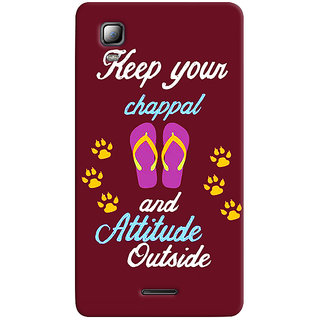 Sketchfab Keep Your Attitude Out PREMIUM LATEST DESIGNER PRINTED COVER SERIES For Micromax A102 Canvas Doodle 3 Mobile Phone With PROTECTIVE SLIM LIGHT HARD MATTE FINISH BACK CASE And EMBEDDED Features