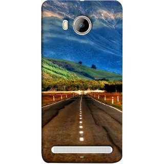 FUSON Designer Back Case Cover For Vivo Xshot :: Vivo X Shot (Scenic Road And Beautiful Mountains Highway Nature)