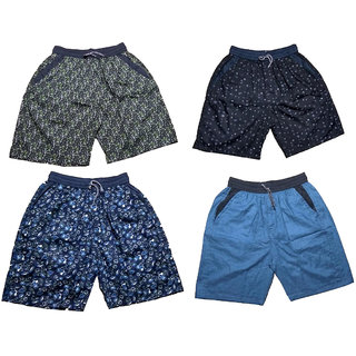 Mj Fashion by men cotton boxer and shorts pack of 4 combo