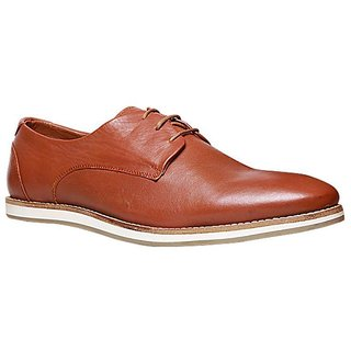 Hush Puppies MenS Tan Formal Lace-Up Shoes