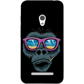 FUSON Designer Back Case Cover For Asus Zenfone Go ZC500TG (5 Inches) (Pink  Toothpick Smoking Drawing Design)