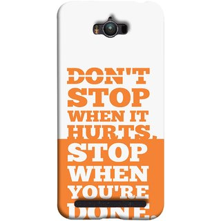 FUSON Designer Back Case Cover For Asus Zenfone Max ZC550KL :: Asus Zenfone Max ZC550KL 2016 :: Asus Zenfone Max ZC550KL 6A076IN (Stop When You Are Done Always See Targets )