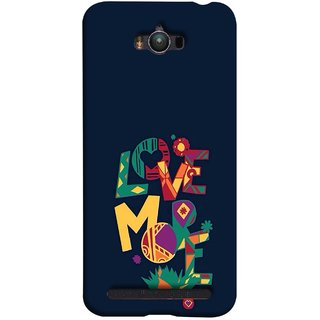FUSON Designer Back Case Cover For Asus Zenfone Max ZC550KL :: Asus Zenfone Max ZC550KL 2016 :: Asus Zenfone Max ZC550KL 6A076IN (I Love You Always Lovers Valentine Hearts Kiss )