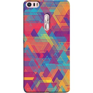 FUSON Designer Back Case Cover For Asus Zenfone 3 Ultra ZU680KL (6.8 Inch Phablet) (Geometric Watercolour Art Print Pink Bright)