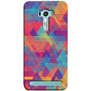FUSON Designer Back Case Cover For Asus Zenfone Selfie ZD551KL (Geometric Watercolour Art Print Pink Bright)
