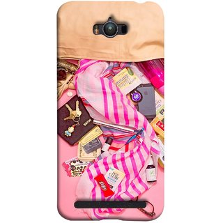 FUSON Designer Back Case Cover For Asus Zenfone Max ZC550KL :: Asus Zenfone Max ZC550KL 2016 :: Asus Zenfone Max ZC550KL 6A076IN (Iphone Larabar Key Chains Money Notes Shampoo)