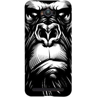FUSON Designer Back Case Cover For Asus Zenfone Max ZC550KL :: Asus Zenfone Max ZC550KL 2016 :: Asus Zenfone Max ZC550KL 6A076IN (Animal Background Open Ears Black Hairs Jungle Nose)